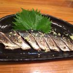 立呑み 風神 - 秋刀魚の炙り