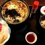 大黒家 - 海鮮丼と豆乳うどんのセット¥950