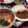 須田うどん - 料理写真:カレーセット☆お蕎麦☆
