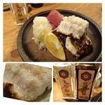 robatahyoutan - 穴子の白焼き(1180円)・・肉厚の穴子ですね。鬼卸がたっぷり添えられているのが嬉しい。             少し焼き過ぎか元々かはわかりませんが身が固めでした。