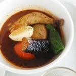 山頂レストラン 朝里ビュー - スープカレーUPで。