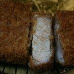 とんかつ ふじ - 千代福豚 この脂が甘くて美味しい