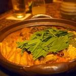 うしごろ 貫 - ホルモン味噌鍋(ニラ投入)