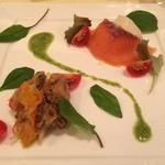ランコントル - スモークサーモンと牡蠣のエスカベッシュ