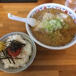 らーめん 大雅 - 「味噌ワンタンめん」1000円+「めんたいこご飯」350円