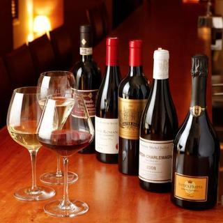 あなたの好みに合った1杯がきっと見つかる豊富なグラスワイン