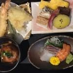 閤 - お刺身、海老の天ぷらとても美味しかったです♬