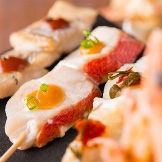炭火魚串焼き