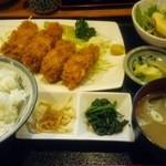 幸の家 - カキフライ定食