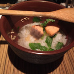 鮮や一夜 - 鮭のお茶漬け