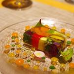 eclat - 料理写真:ランチA(前菜)野菜とサーモンのプレッセ