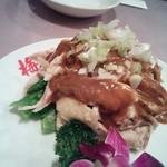 33463389 - 鶏肉胡麻味噌かけ(1200円+税)