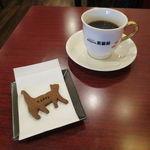 黒猫屋珈琲店 - 手作り猫クッキー(ココア)&ブレンド・コーヒー:玉響(たまゆら)