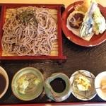 松よし - 天ざるそば(1,393円)+大盛り(216円)