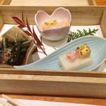 神楽坂 翔山亭 - 前菜3種