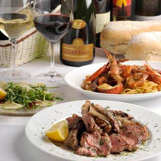 イタリアワインにあうナポリピッツァと旬の食材で楽しむ郷土料理