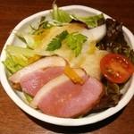 跳魚 - 燻製鴨と冬蕪の柚子サラダ