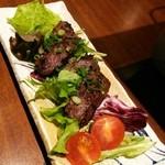 跳魚 - 牛ハラミ肉の生姜麹漬け焼き