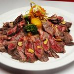 ラ・イルマーレ - 450グラムステーキ。冬季だけのメューです。2480円