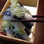 すし小銭 - いわし寿司アップ