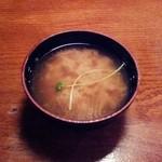 翠翔 - シジミの味噌汁