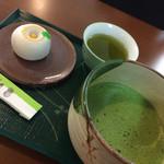 宇治園 喫茶去 - 宇治抹茶お薄 和菓子セット770円