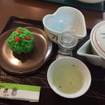 宇治園 喫茶去 - 宇治玉露天王和菓子セット770円