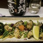 かど乃おすぎ - 牡蠣のたたきと賀茂金秀