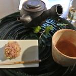 茶房一笑 - 棒茶セット
