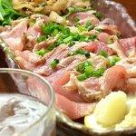 やどんげ - 地鶏もも肉のたたき