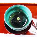 長島 - 料理写真:【先付】かぶら蒸、海苔包み。中は甘鯛 百合根 銀杏 山葵 銀(霜月の昼会席)<2014.11>