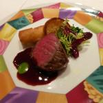 モナリザ - 国産牛ロース肉のポワレ 赤ワインソース