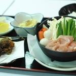 きて兆 - 夜定食(味噌小鍋、塩ポンから揚げ、小鉢、ごはん、香の物)季節限定メニュー