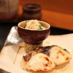 京料理 藤本 - 焼き物はおひたしと、鰆のゆうあん焼き