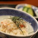 京料理 藤本 - 蟹と根菜の炊き込みご飯