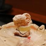 京料理 藤本 - りんごのコンポートのミルフィーユ(ツレの)