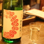 うさぎ - 2つめは、萩のガラの日本酒。香りのあって鮭にあうやつ、というリクエストに応じて、でてきました。