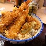さん天 - 海老と鶏の天丼490円