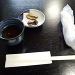 33513155 - 麹のお茶とお漬け物!