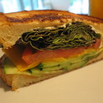 33514369 - 梅干しと新鮮野菜のサンドイッチ1