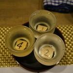 勝栄 - ドリンク写真:味比べ3杯セットを2回飲んだ