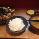 もり達 - 明太マヨ唐揚げ定食(950円)