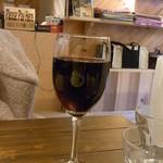 カフェアイルビー - グラスワインは赤白1種類ずつ¥500(税込)☆♪