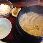 ボンボン亭 - 汁ぎょうざセット(カレー)
