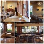 パークサイドカフェ - 自然光がたっぷり入って明るい店内