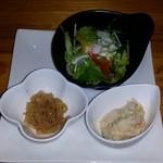 桑の葉料理 いけ田 - ランチの前菜