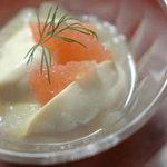 豆腐料理 空野 - 杏仁豆腐グレープフルーツソース