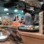 裏椿 - カウンターの大皿料理