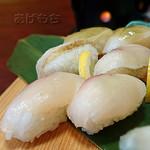 和食亭海せん - 料理写真:チョウザメ握り [小林チョウザメにぎり膳]