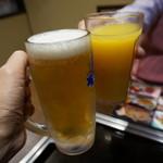 お好み焼本舗 - アルコール飲みほー(1,393円)とドリンクバー(313円)